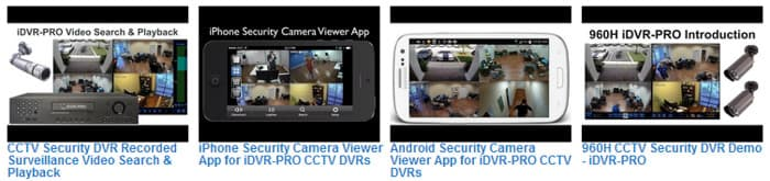 960H Security DVR Videos