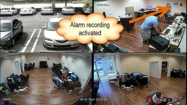 CCTV DVR Alarm Recording