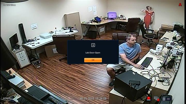 CCTV DVR Trigger Alarm