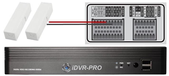 CCTV DVR Alarm Input Setup