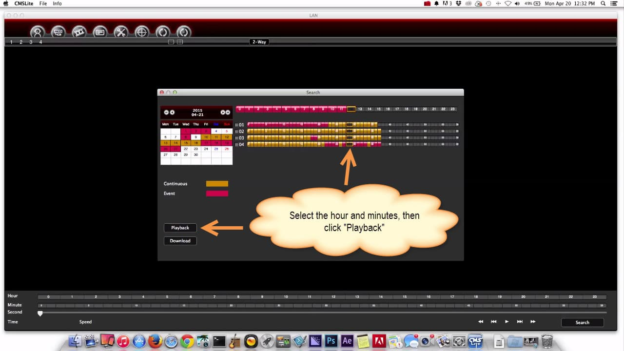 Mac CCTV Software Playback Video Recording