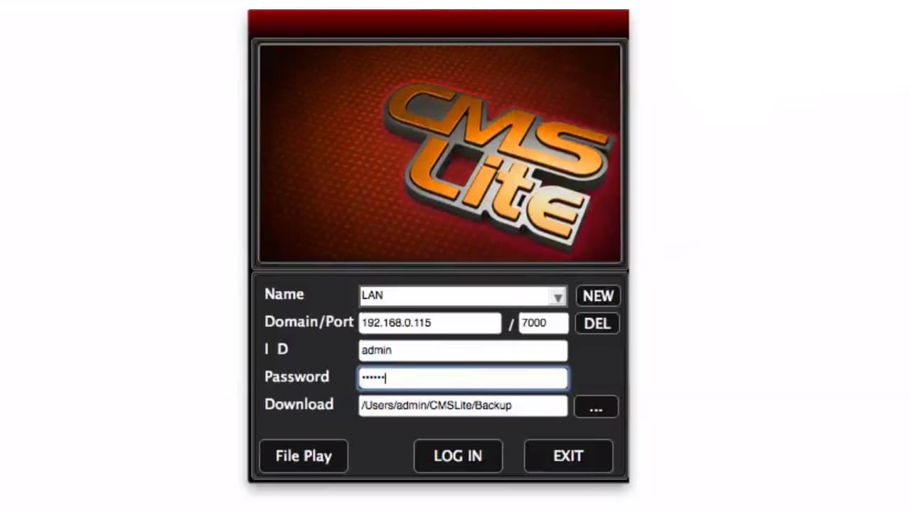 Mac DVR Software Login