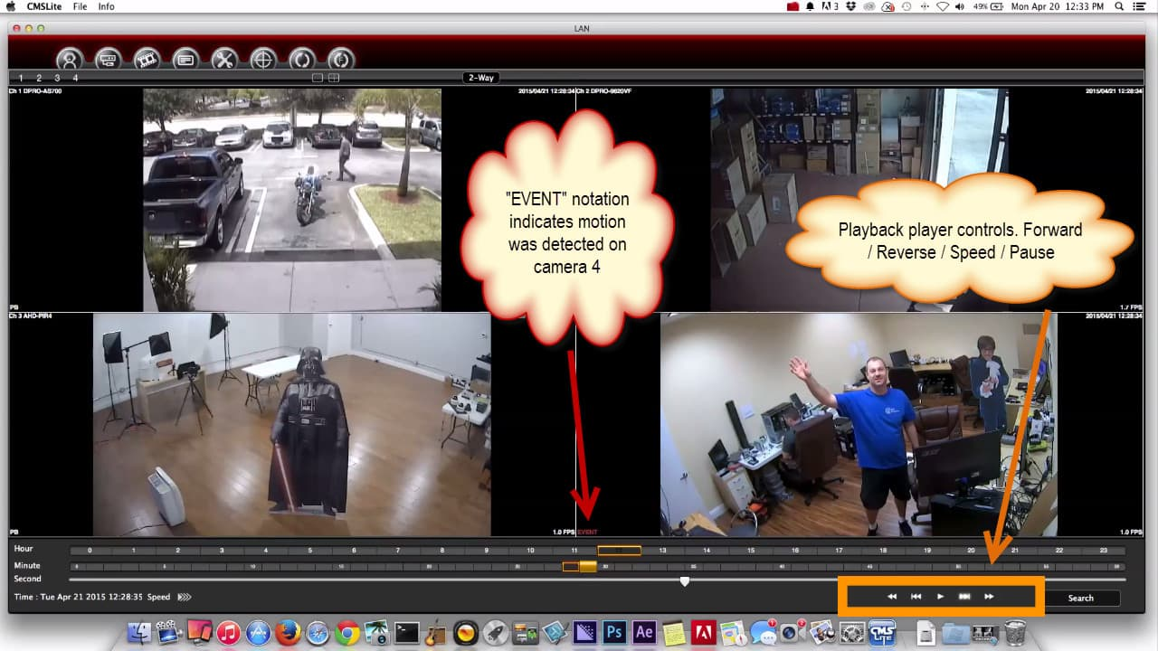 Mac DVR Software Surveillance Video Playback