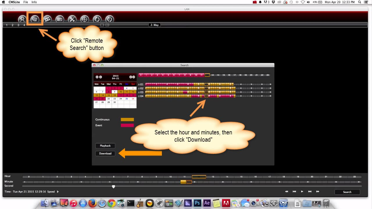 Macintosh DVR Software Video Export