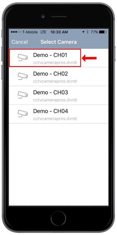 Geovision GV-Eye Remote Access iPhone