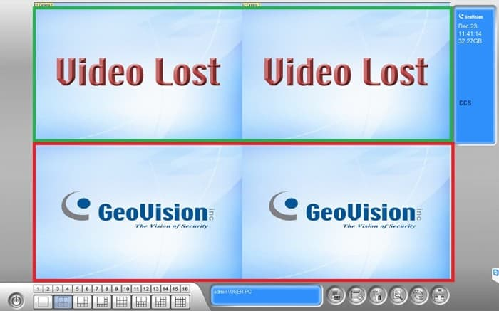 Geovision PC Software Video Loss
