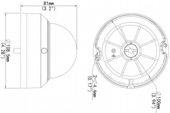 Geovision UVS-ADR1300 Dimensions