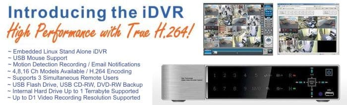 H.264 Stand Alone DVR