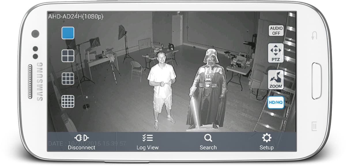 1080p Security Camera - Infrared Remote View from Android App