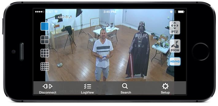 HD Security Camera View from iDVR-PRO Viewer iPhone App