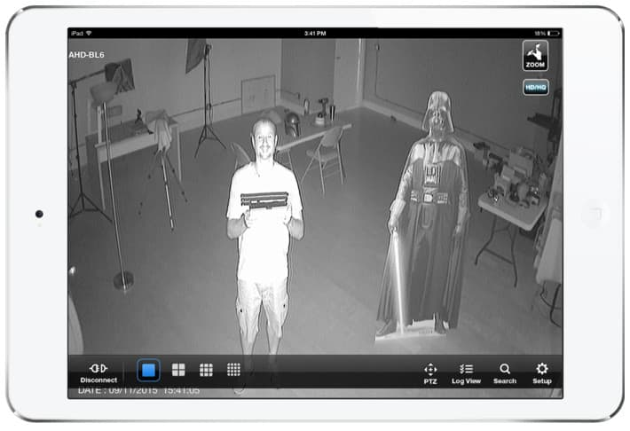 Infrared HD Security Camera View from iDVR-PRO Viewer iPhone App