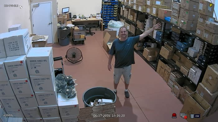 1080p HD-TVI Security Camera Surveillance Image