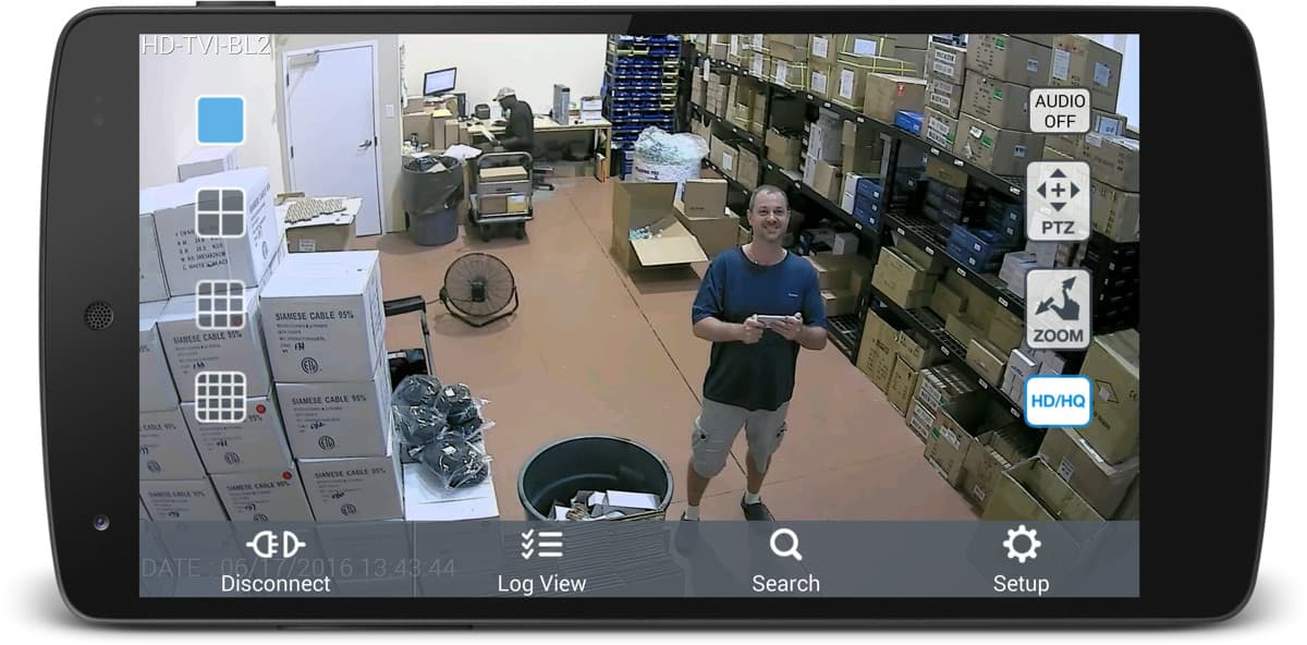 Outdoor HD-TVI Security Camera - Android App Remote View