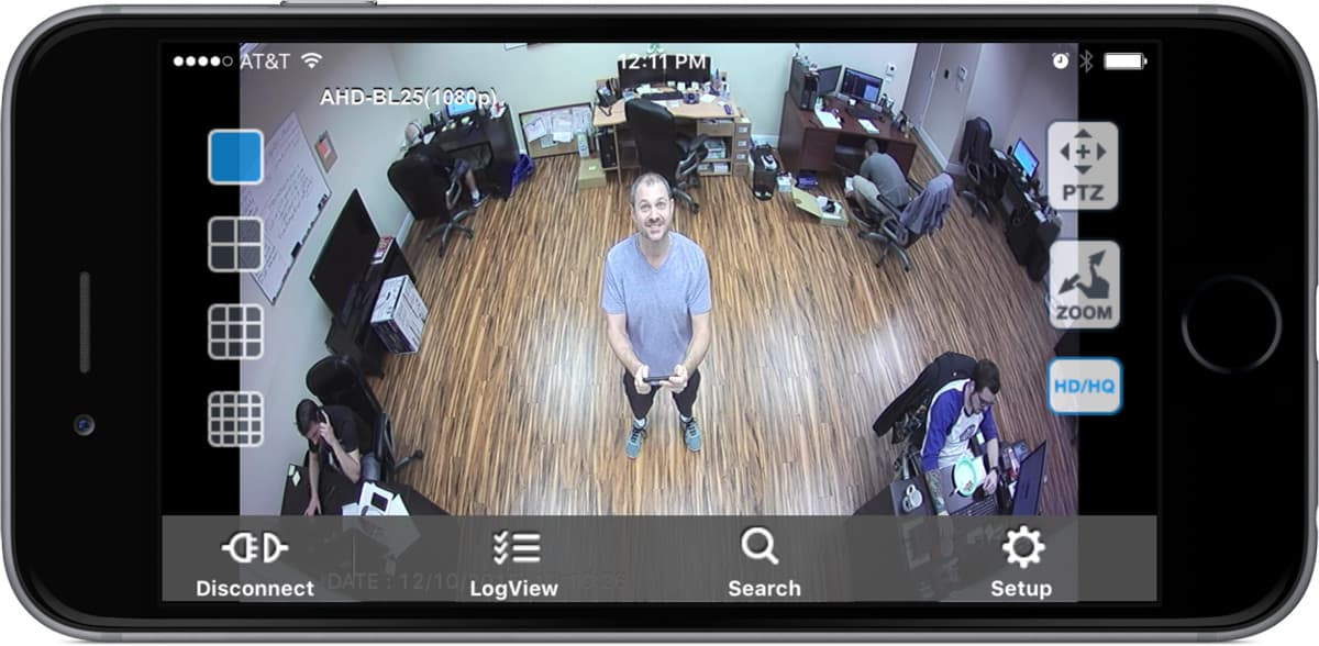 Wide Angle Security Camera - iPhone App View