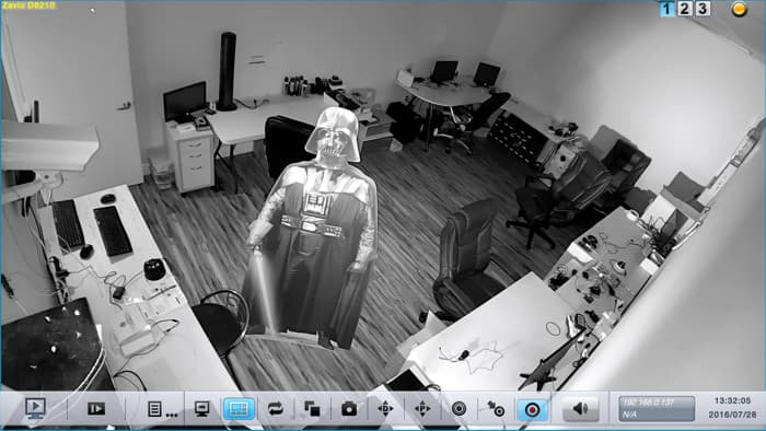 Dome IP Camera Infrared Surveillance