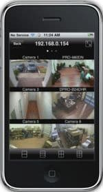 Nuuo Surveillance DVR iPhone App Live Camera View 1