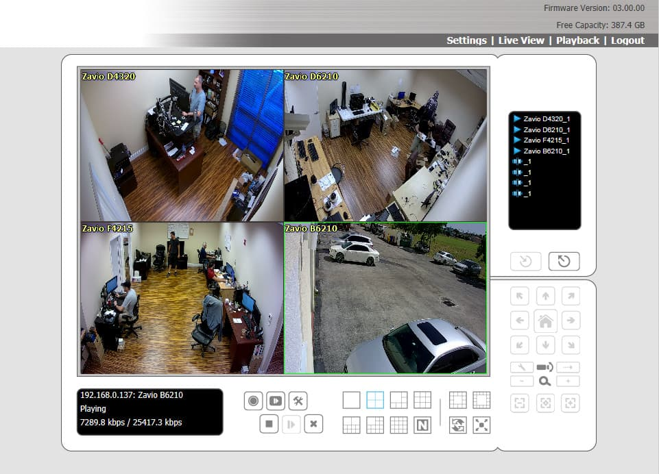 Remote IP Camera View from Windows Web Browser