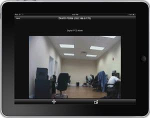 Zavio CamGraba Surveillance Software iPad App Live Camera View 1