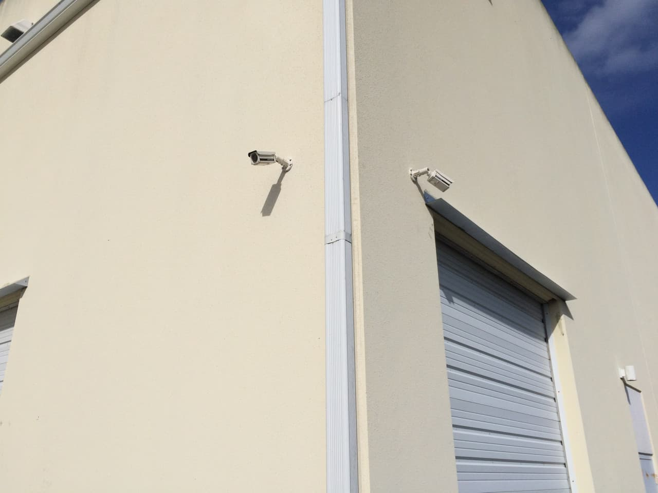 Outdoor Security Camera Mounted on Warehouse