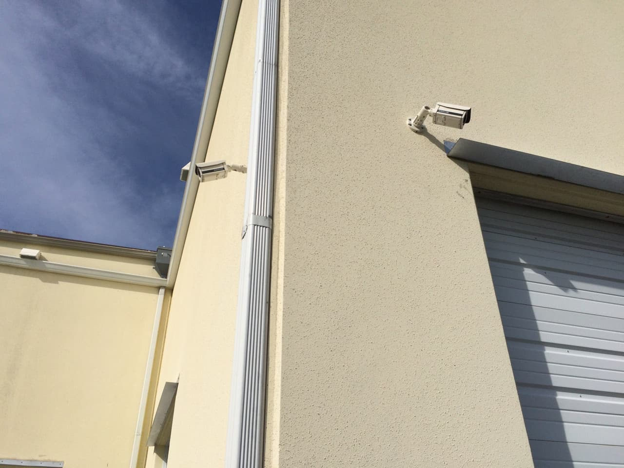 Outdoor Surveillance Camera Installed on Warehouse
