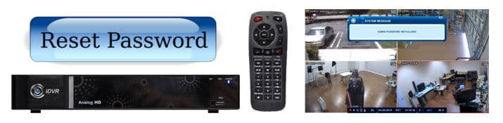 Hybrid AHD CCTV Surveillance DVR Password Reset Instructions