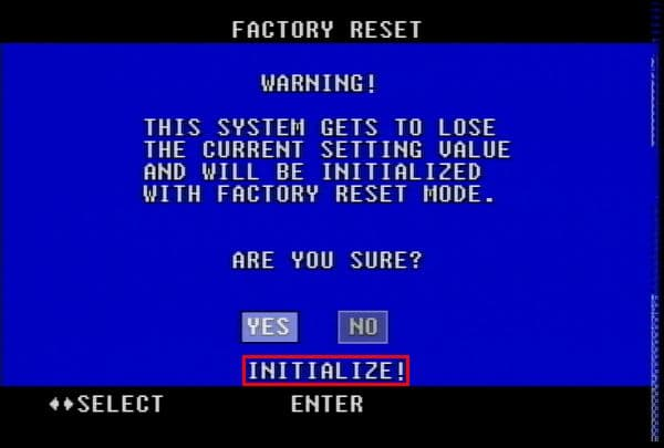 Color Quad Processor Factory Reset Instructions