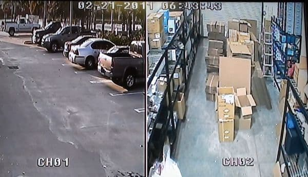 CCTV Dual Screen Video
