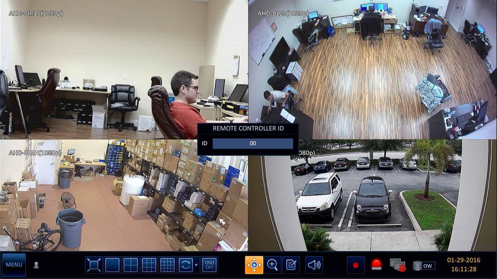 IR Remote Control Setup for iDVR-PRO 960H / H 264 CCTV DVRs