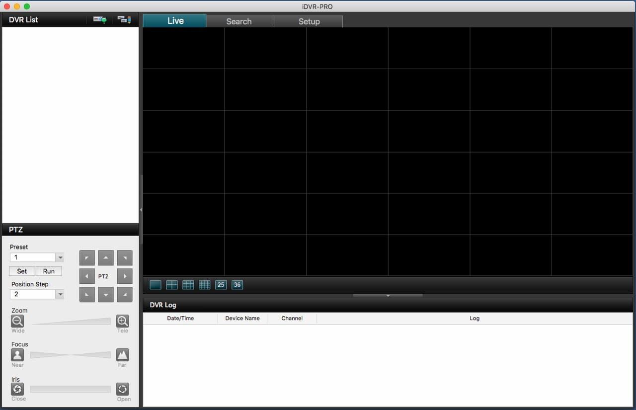 iDVR-PRO Mac Viewer Remote Access