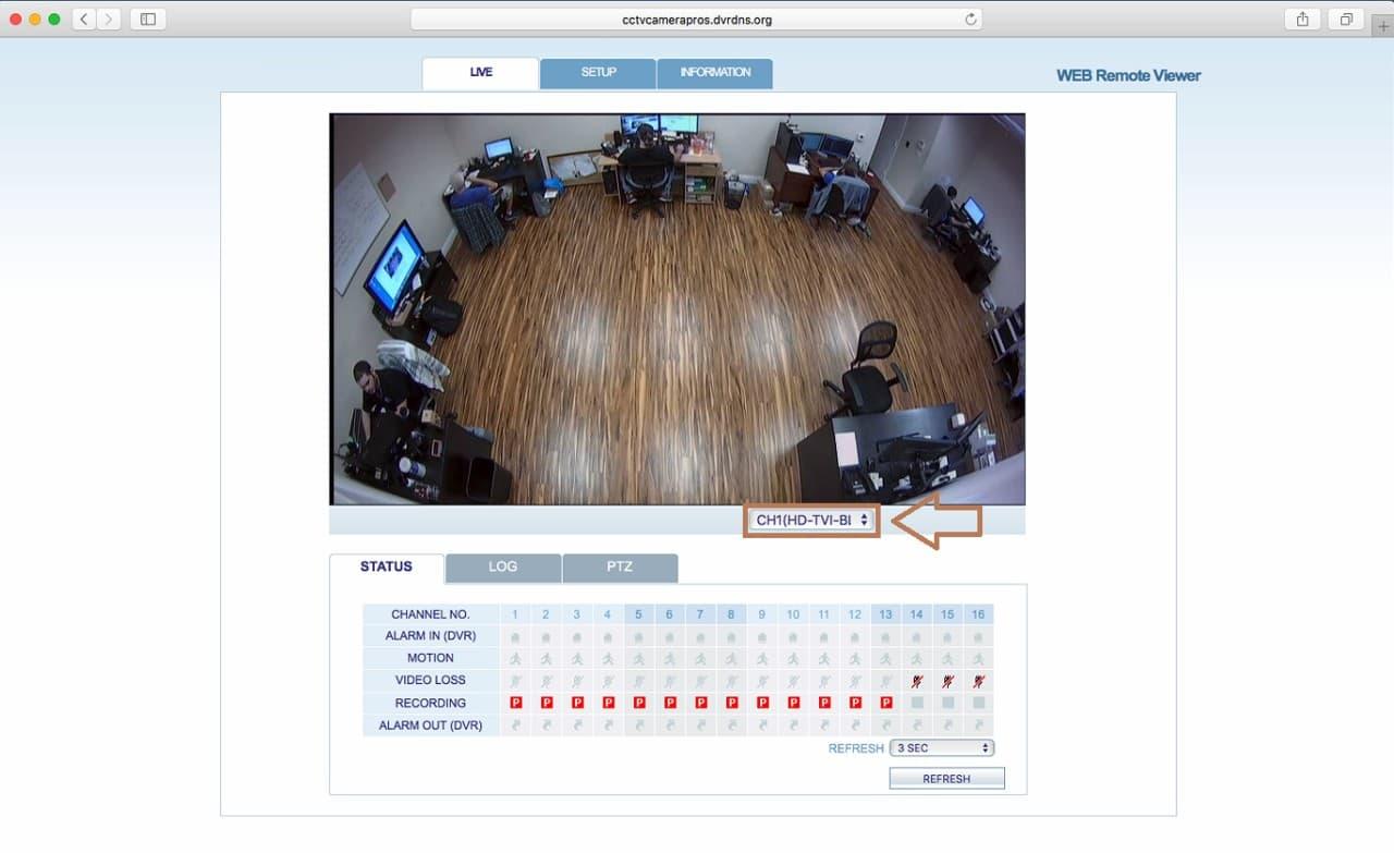 iDVR-PRO Safari Mac Remote Access