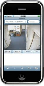 iPhone DVR Live Camera View