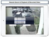 iPad CCTV App Video Playback