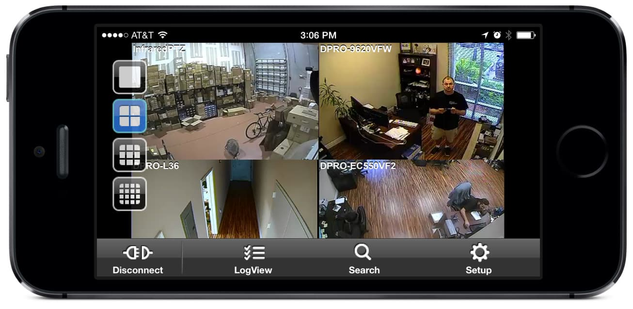 video surveillance iphone