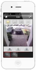 iPhone CCTV App Front Door View