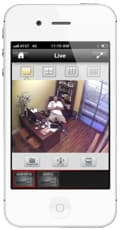 iPhone CCTV App Camera Home View