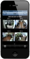 iPhone Surveillance Camera Viewer App