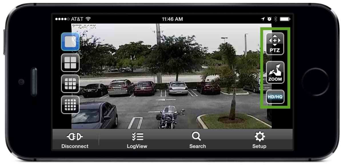 Security Camera App PTZ Zoom HD Controls