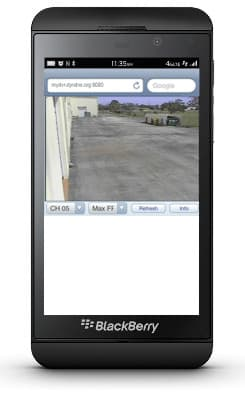CCTV Security Camera View Blackberry Mobile