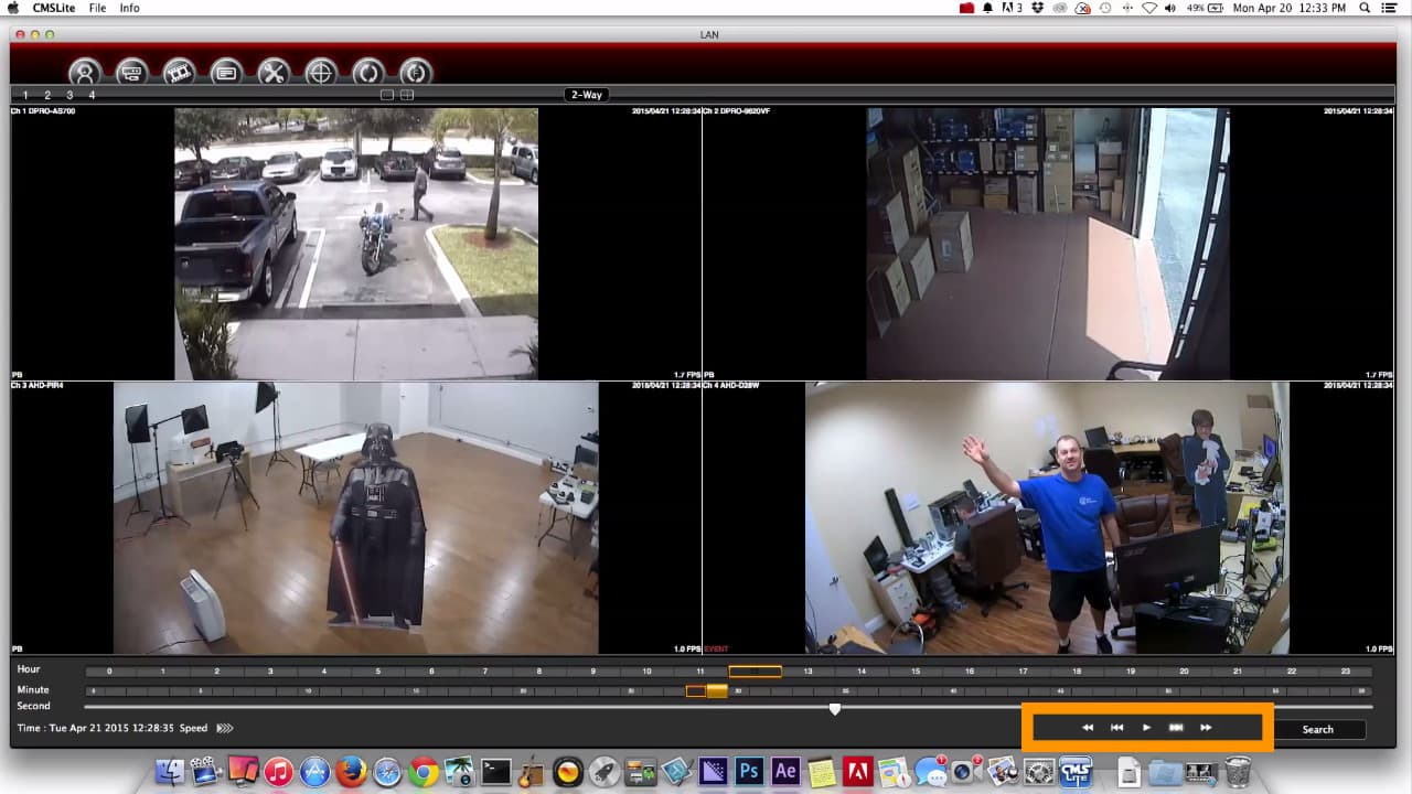 Mac Security Camera Software DVR Video Playback