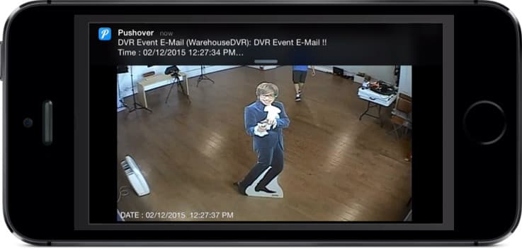 CCTV Camera DVR Push Notification