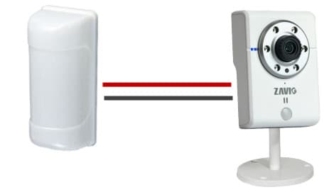 PIR Motion Detector Integration with IP Camera