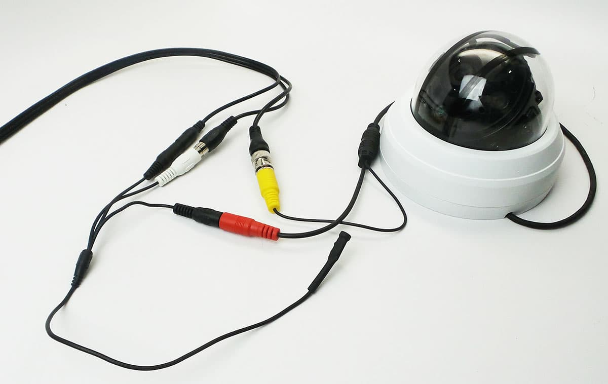 Security Camera Cable with Audio Surveillance Microphone