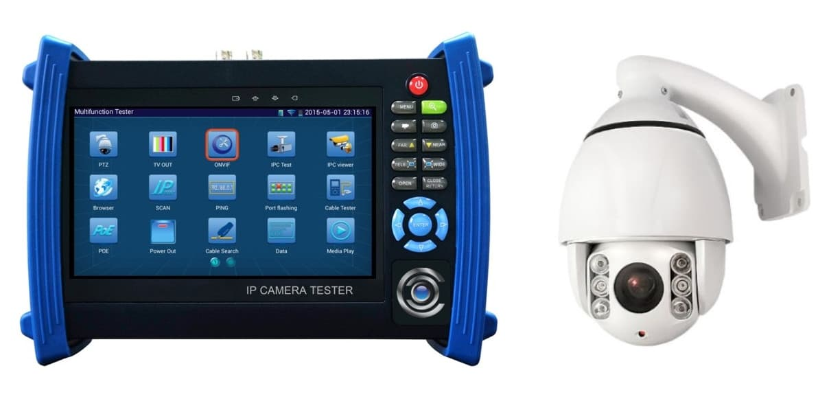 PTZ Camera Controls for CCTV Test Monitor