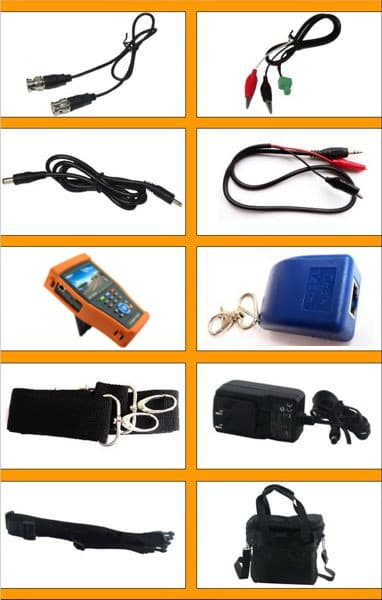 HD CCTV Camera Test Monitor Accessories