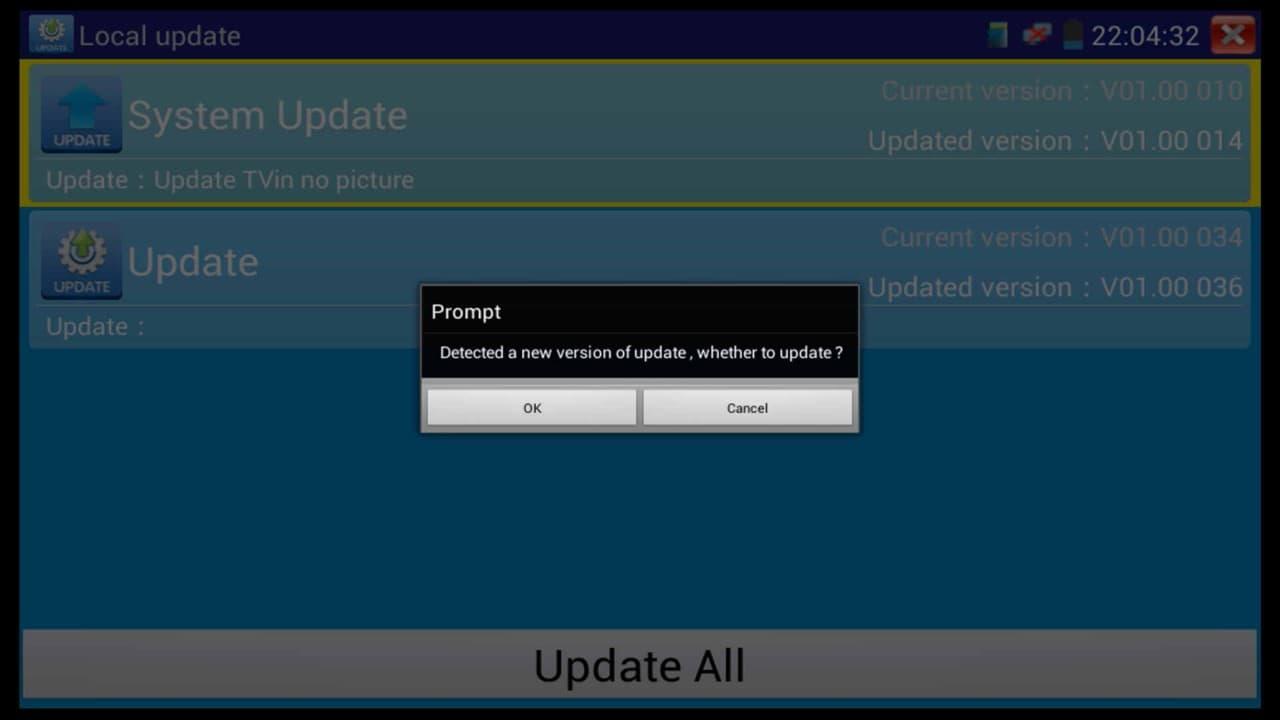 IP CCTV Test Monitor Firmware Update