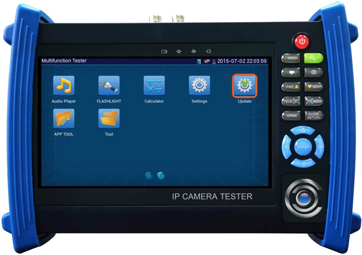 IP Camera Test Monitor, ONVIF Support, CCTV, PTZ, PoE Tester, 7