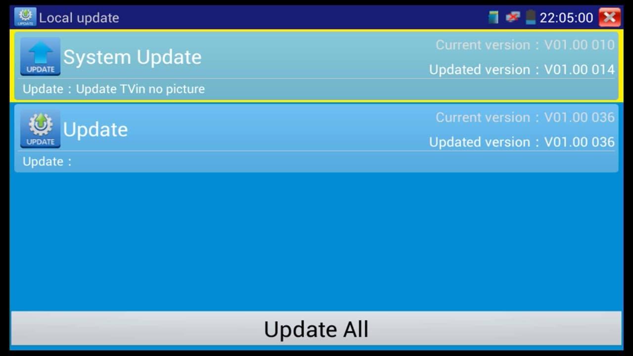 IP Surveillance Camera Test Monitor Update