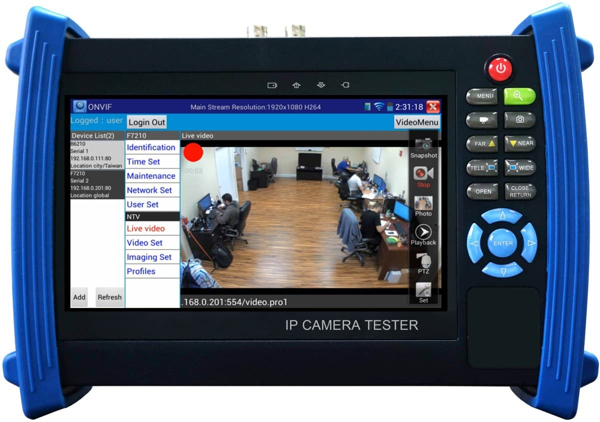 Test Monitor Video Record Playback