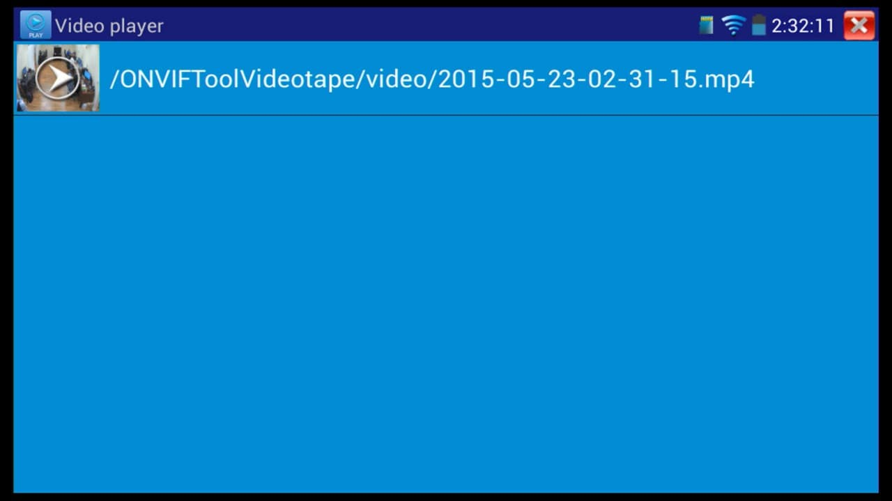 Video Playback IP Test Monitor