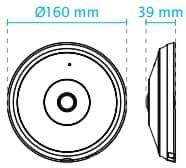 Vivotek FE9182-H Dimensions